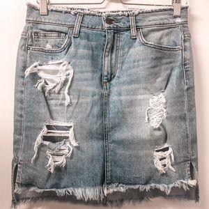 Joe's Jeans Distressed/Ripped Denim Skirt